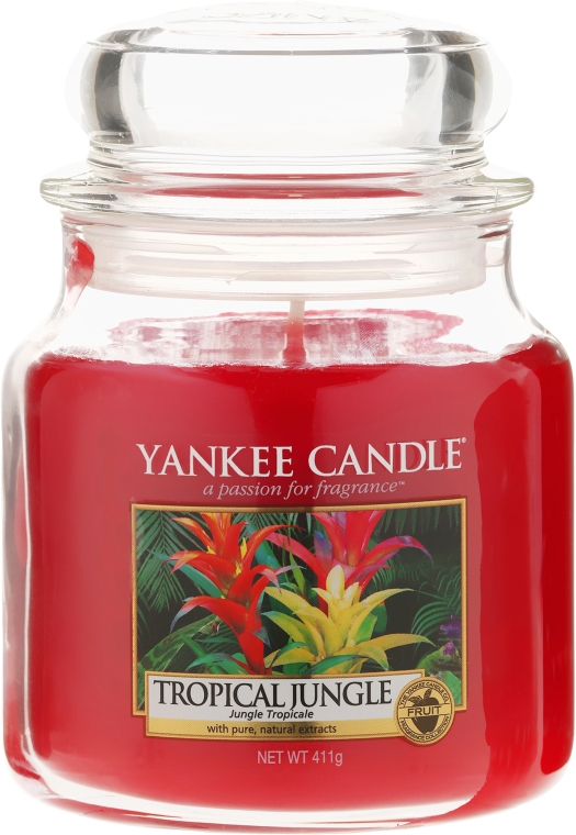Lumânare parfumată în borcan - Yankee Candle Tropical Jungle