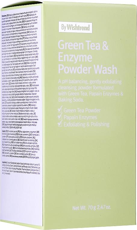 Pudră enzimatică cu ceai verde pentru spălare - By Wishtrend Green Tea & Enzyme Powder Wash