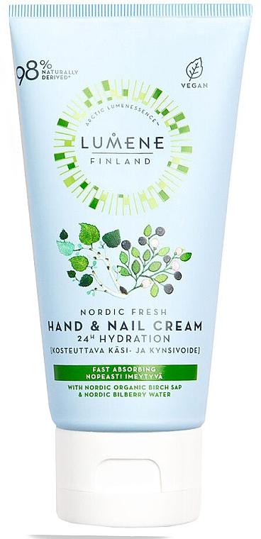 Cremă hidratantă pentru mâini 24H - Lumene Nordic Fresh Hand & Nail Cream — Imagine N1
