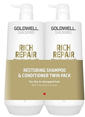 Set - Goldwell DualSense Rich Repair (shmp/1000ml + cond/1000ml) — Imagine N1