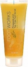"Parfumuri și produse cosmetice Scrub pentru picioare ""Arbore de ceai și ananas"" - Avon Foot Works Pineapple And Tea Tree Foot Scrub"