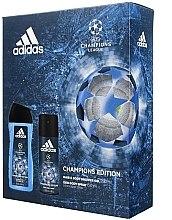 Parfumuri și produse cosmetice Set - Adidas UEFA Champions League (sh/gel/250ml + deo/spray/150ml)