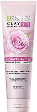 Parfumuri și produse cosmetice Mască de argilă cu apă de trandafiri și amarant pentru față - Nature Of Agiva Roses Pink Clay 3 In 1 Scrub Mask