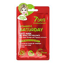 """Parfumuri și produse cosmetice Mască de față, pregătire pentru întâlnire """"Romantic Saturday"""" - 7 Days Romantic Saturday"""