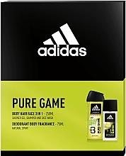 Parfumuri și produse cosmetice Adidas Pure Game - Set (edc/75ml + sh/gel/250ml)