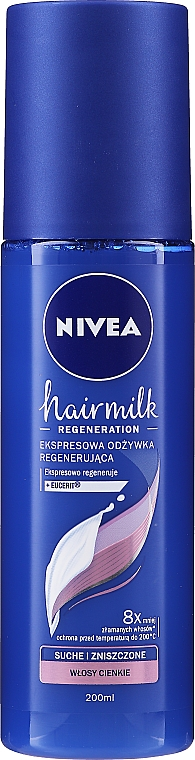 "Balsam spray regenerator pentru păr subțire ""7 Plus"" - Nivea Hairmilk Conditioner"