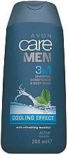 Parfumuri și produse cosmetice Șampon-Gel de duș - Avon Care Men 3in1 Shampoo, Conditioner & Body Wash Cooling Effect