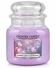 Parfumuri și produse cosmetice Lumânare aromată - Country Candle Snowflakes Glistening