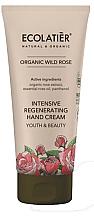 """Parfumuri și produse cosmetice Cremă de mâini """"Tinerețe și frumusețe"""" - Ecolatier Organic Wild Rose Intensive Regenerating Hand Cream"""