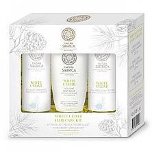 Parfumuri și produse cosmetice Set - Natura Siberica White Cedar Hair Care Kit (shm/250ml + balm/250ml + mask/200ml)