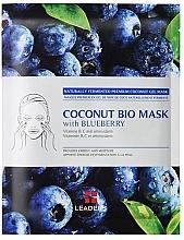"""Parfumuri și produse cosmetice Mască de față """"Afine"""" - Leader Coconut Bio Mask With Blueberry"""