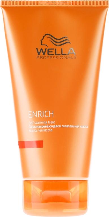 Mască nutritivă de păr - Wella Professionals Enrich Self Warming Treat — Imagine N1