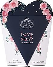 """Parfumuri și produse cosmetice Săpun natural """"Inimă"""" în cutie cadou - Essencias De Portugal Love Soap Inside Of Limited Rose Edition"""