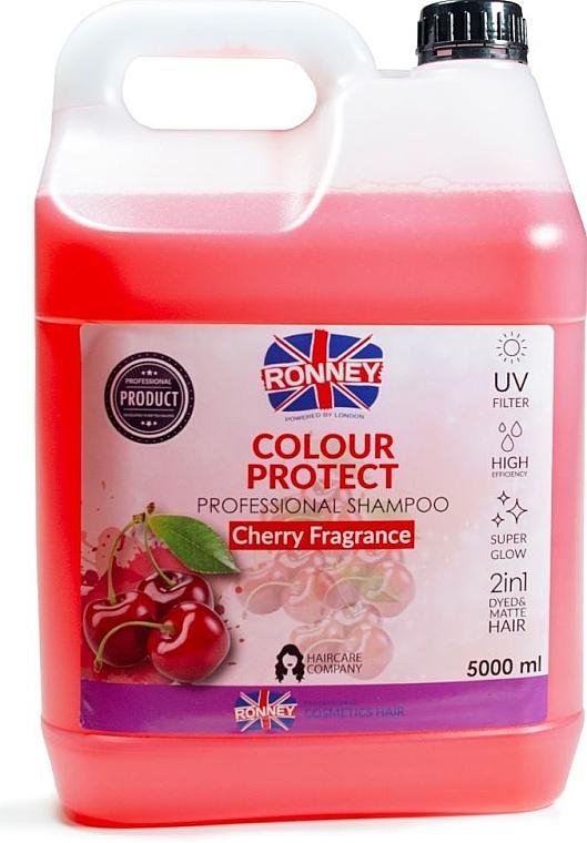 Шампунь для окрашенных волос - Ronney Professional Shampoo Color Protect Cherry Fragrance — фото N1