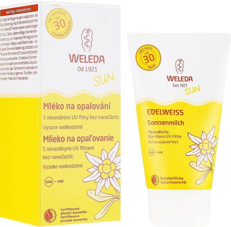 Lăptișor de protecție solară pentru corp - Weleda Sun Edelweiss Sun Milk SPF 30