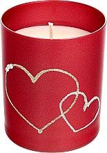Parfumuri și produse cosmetice Lumânare decorativă, roșie, 8x9,5cm - Artman Forever Glass