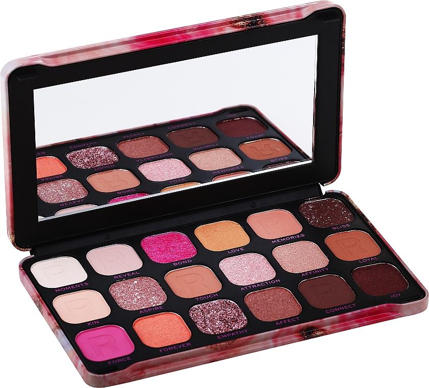 Paletă fard de ochi, 18 nuanțe - Makeup Revolution Forever Flawless Palette