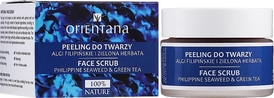 "Peeling-gel pentru față ""Alge marine și ceai verde"" - Orientana Natural Gel Face Scrub Philippine Seaweed & Green Tea — Imagine N4"