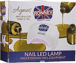 Духи, Парфюмерия, косметика Лампа для ногтей LED, черная - Ronney Profesional Agnes Pro LED 48W (GY-LED-032)