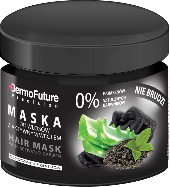 Mască pentru păr cu cărbune activ - DermoFuture Hair Mask With Activated Carbon