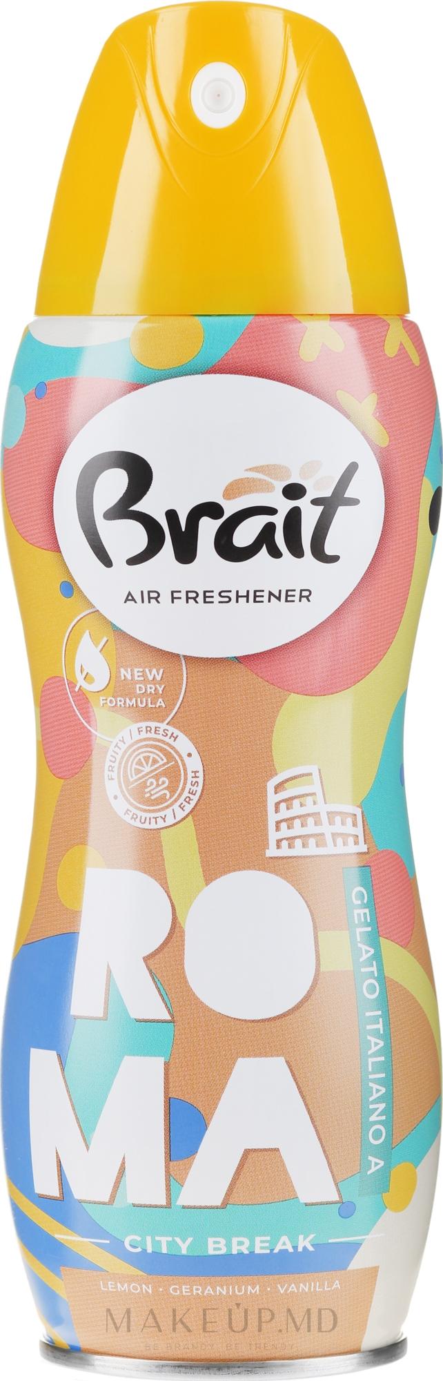 """Odorizant pentru casă """"City Break -Roma"""" - Brait Dry Air — Imagine 300 ml"""