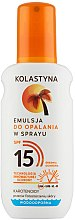 Parfumuri și produse cosmetice Emulsie pentru bronz - Kolastyna Emulsion Spray SPF 15