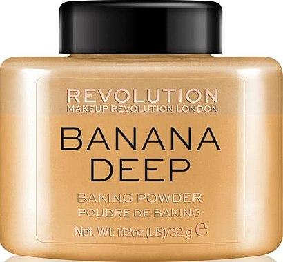 Pudră de față - Makeup Revolution Banana Deep Baking Powder — Imagine N1
