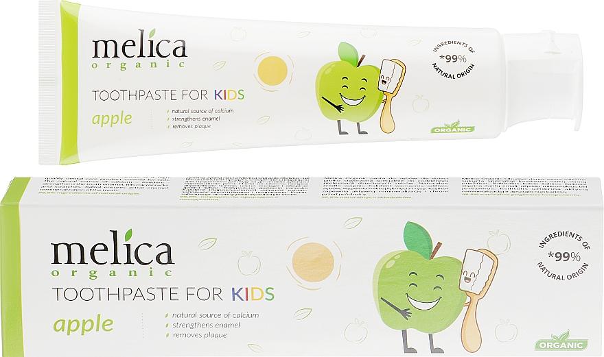 """Pastă de dinți pentru copii """"Măr"""" - Melica Organic Toothpaste For Kids Apple"""