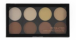 Parfumuri și produse cosmetice Paletă pentru contur facial, 8 culori - Makeup Revolution Iconic Lights & Contour Pro