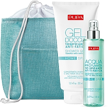 Parfumuri și produse cosmetice Set - Pupa Home Spa Anti-Fatigue Bamboo Extract (sh/gel/300ml + aroma/water/150ml)