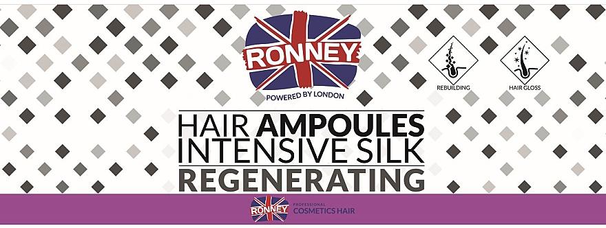 Fiole pentru netezirea părului - Ronney Professional Hair Ampoules Intensive Silk Regenerating