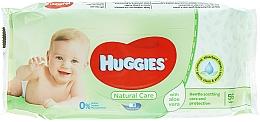 Parfumuri și produse cosmetice Șervețele umede pentru copii, Natural Care, 56 bucăți - Huggies