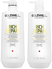 Set - Goldwell DualSense Rich Repair (shmp/1000ml + cond/1000ml) — Imagine N2