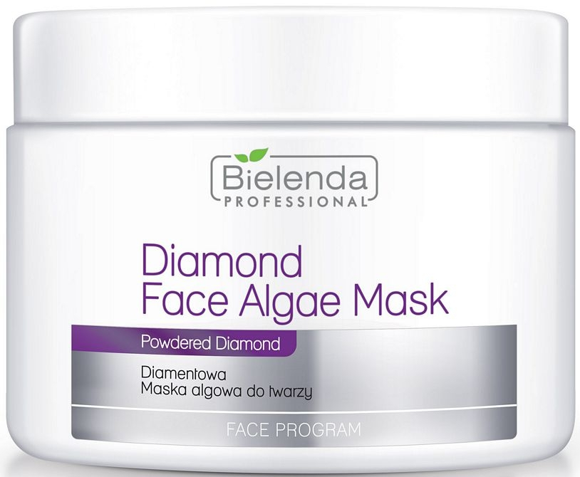 Mască alginată de iluminare pentru față - Bielenda Professional Diamond Face Algae Mask — Imagine N1