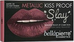 Parfumuri și produse cosmetice Set pentru machiajul buzelor (l/l/1.5g+l/cr/3.8ml+l/cr/9ml) - Bellapierre Kiss Proof Metallic Slay (Lilies)