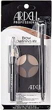 Ardell Brow Defining Kit (palette/4g + wax/2.3g + brush) - Set pentru vopsirea și corecția sprâncenelor — Imagine N1