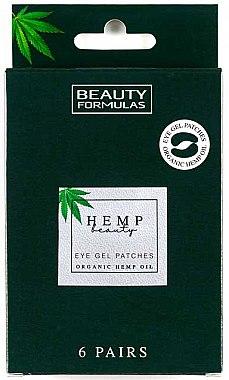 Patch-uri sub ochi - Beauty Formulas Hemp Beauty Eye Gel Patches