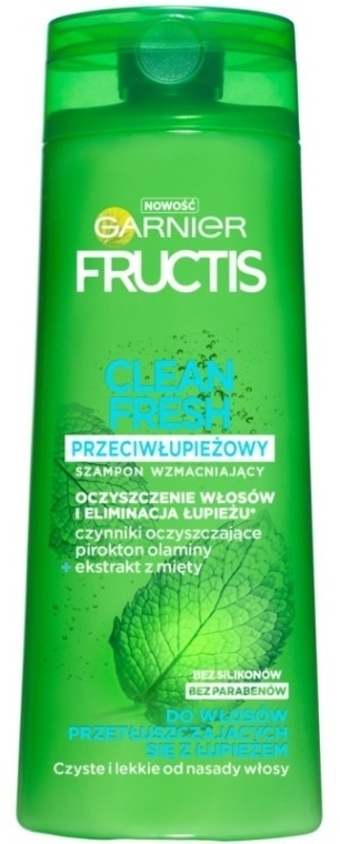 Șampon de păr anti-mătreață - Garnier New Fructis Clean Fresh Shampoo — Imagine N1