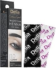Parfumuri și produse cosmetice Vopsea praf pentru sprâncene - Delia Brow Dye Henna Traditional Black
