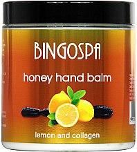 Parfumuri și produse cosmetice Balsam cu miere și lămâie pentru mâini - BingoSpa