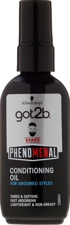 Ulei pentru barbă - Schwarzkopf Got2b Phenomenal Beard Conditioning Oil