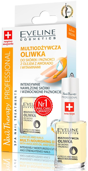 Ulei nutritiv pentru unghii și cuticule - Eveline Cosmetics Nail Therapy Professional  — Imagine N2