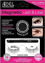 Parfumuri și produse cosmetice Set - Magnetic Lash & Liner 110 Lash Kit (eye/liner/2g + lashes/2pc)