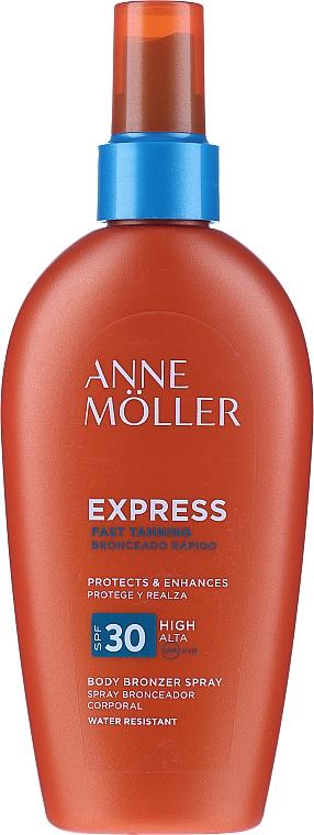 Spray de protecție solară pentru accelerarea bronzului - Anne Moller Express Body Bronzer Spray SPF30