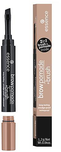 Pomadă pentru sprâncene + pensulă - Essence Brow Pomade+Brush