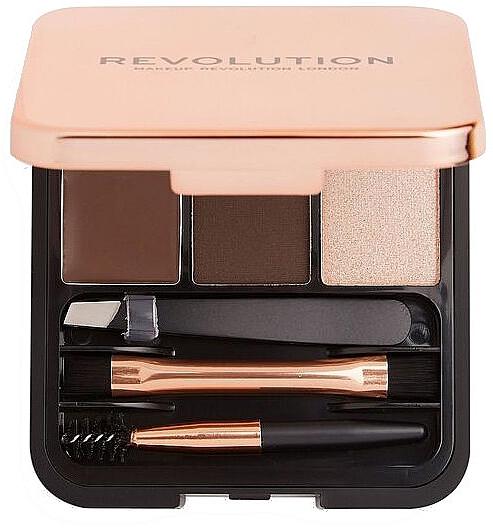 Set pentru sprâncene - Makeup Revolution Brow Sculpt Kit