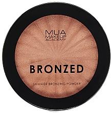 Parfumuri și produse cosmetice Pudră- bronzer cu efect iluminant pentru față - MUA Bronzed Shimmer Bronzing Powder Solar Shimmer