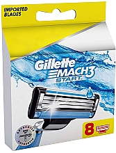 Духи, Парфюмерия, косметика Сменные кассеты для бритья, 8шт - Gillette Mach3 Start