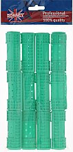 Parfumuri și produse cosmetice Bigudiuri 25/65 mm, verde - Ronney Hollow Magntic Rollers