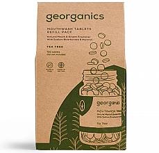"""Parfumuri și produse cosmetice Tablete pentru igiena orală """"Arbore de ceai"""" - Georganics Mouthwash Tablets Tea Tree (rezervă)"""